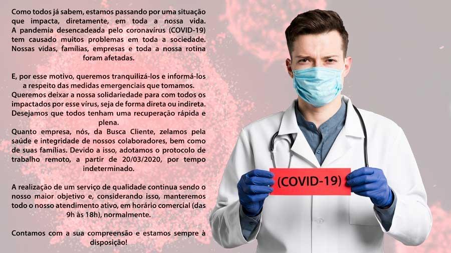 Busca Cliente - covid-19